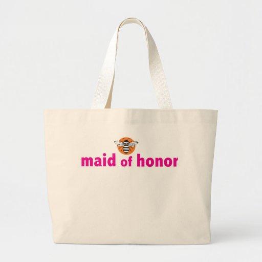 Abeja mi criada del honor bolsas lienzo