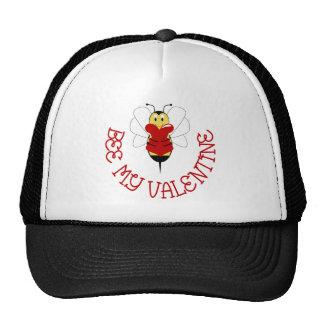 Abeja mi gorra de la tarjeta del día de San Valent
