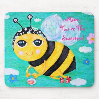 Abeja mi miel - el día de madre tapete de ratones