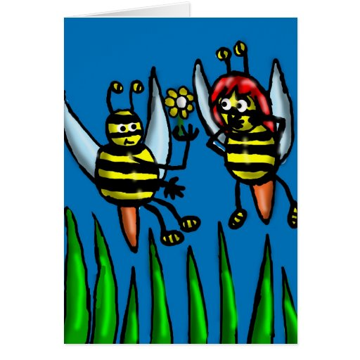 Abeja mi tarjeta de la tarjeta del día de San Vale