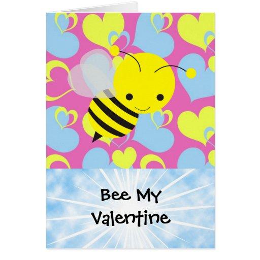 Abeja mi tarjeta del día de San Valentín