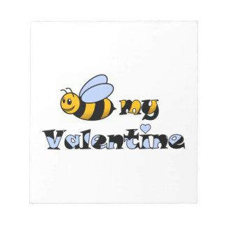 Abeja mi tarjeta del día de San Valentín Blocs