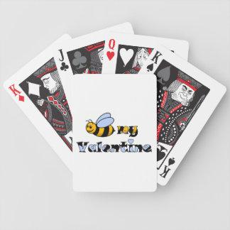 Abeja mi tarjeta del día de San Valentín Cartas De Juego