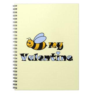 Abeja mi tarjeta del día de San Valentín Libretas Espirales