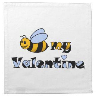 Abeja mi tarjeta del día de San Valentín Servilleta De Papel