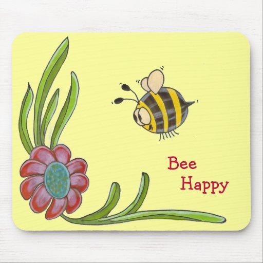 Abeja Mousepad feliz