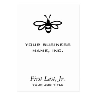Abeja [negro] tarjetas de visita grandes