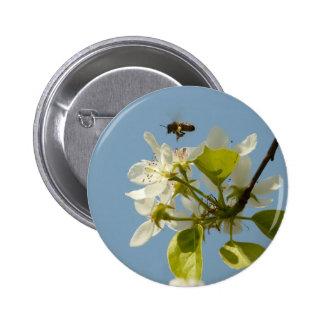 abeja ocupada chapa redonda 5 cm