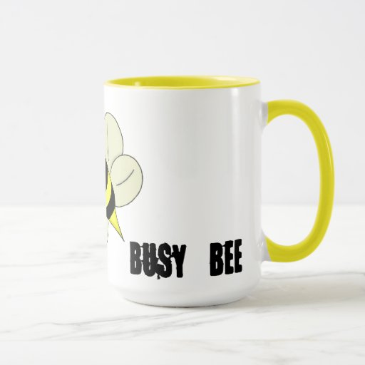 Abeja ocupada taza