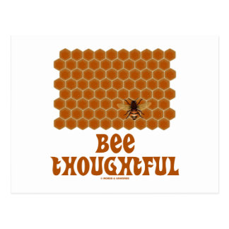 Abeja pensativa (abeja en fondo del panal) tarjeta postal