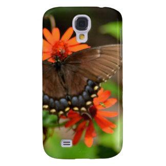 Abeja que persigue una mariposa