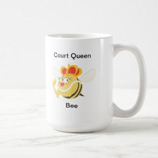 Abeja reina de la corte tazas