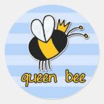 abeja reina etiqueta redonda