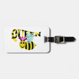 abeja reina etiquetas maleta