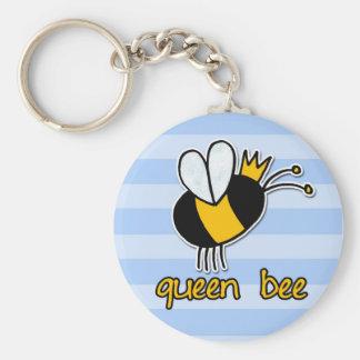 abeja reina llavero redondo tipo pin