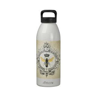 abeja reina moderna del francés del vintage botella de beber