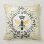 abeja reina moderna del francés del vintage cojin