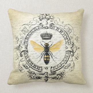 abeja reina moderna del francés del vintage cojín