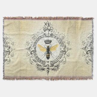 abeja reina moderna del francés del vintage manta