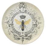 abeja reina moderna del francés del vintage platos de comidas