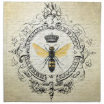 abeja reina moderna del francés del vintage servilletas de papel
