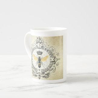 abeja reina moderna del francés del vintage taza de porcelana