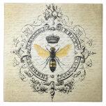 abeja reina moderna del francés del vintage teja