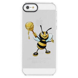 Abeja sonriente de la miel del dibujo animado que funda clearly™ deflector para iPhone 5 de uncommon
