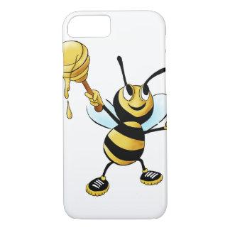 Abeja sonriente de la miel del dibujo animado que funda iPhone 7