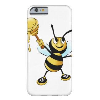 Abeja sonriente de la miel del dibujo animado que funda para iPhone 6 barely there
