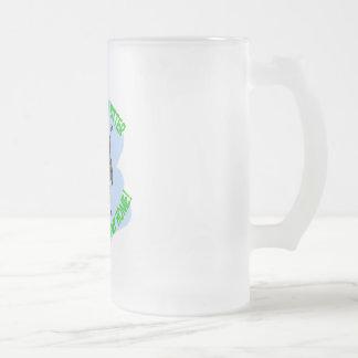 abeja taza de cristal