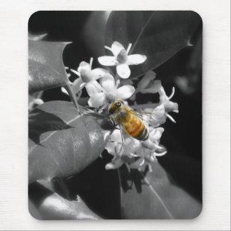 Abeja y acebo de la miel tapete de ratones