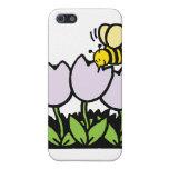 Abeja y flores iPhone 5 cárcasa