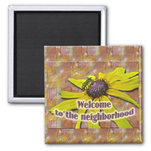 Abeja y vecino agradable observado negro de Susan Imán Cuadrado