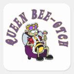 Abeja-Yotch de la reina Pegatinas Cuadradas Personalizadas