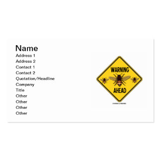 Abejas amonestadoras a continuación (señal de peli plantilla de tarjeta personal