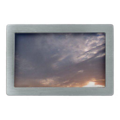 Abejas Cumbria del St de la puesta del sol Hebilla De Cinturon Rectangular