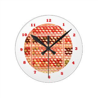 Abejas de BEHIVE:  Arte pintado punto Reloj Redondo Mediano