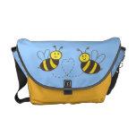 Abejas de la miel con el corazón bolsas messenger