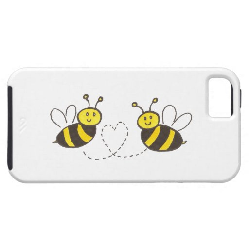 Abejas de la miel con el corazón iPhone 5 funda