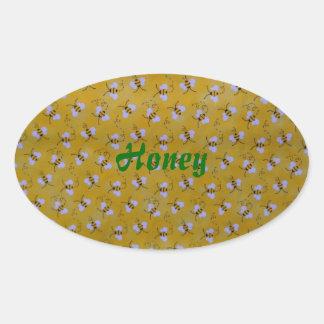 Abejas de la miel de mi etiqueta del jardín