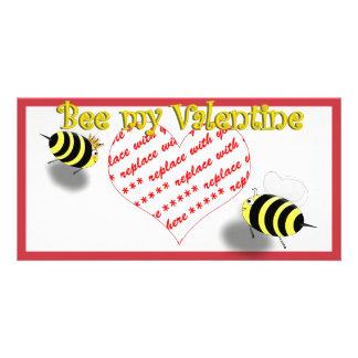 "Abejas de la miel del dibujo animado ""abeja marco  tarjetas fotograficas"
