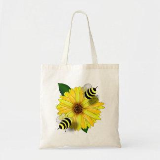 Abejas de la miel del dibujo animado que se encuen bolsas lienzo