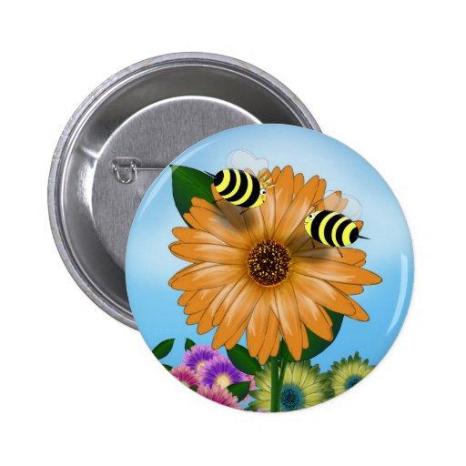 Abejas de la miel del dibujo animado que se encuen pin
