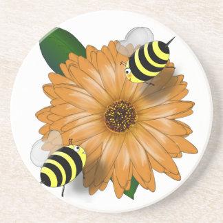Abejas de la miel del dibujo animado que se encuen posavasos manualidades