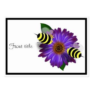 Abejas de la miel del dibujo animado que se encuen plantilla de tarjeta personal