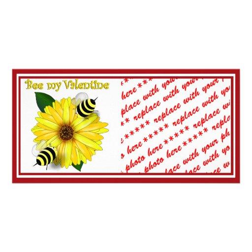 Abejas de la miel del dibujo animado que se encuen tarjetas personales