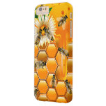 Abejas de la miel funda de iPhone 6 plus barely there
