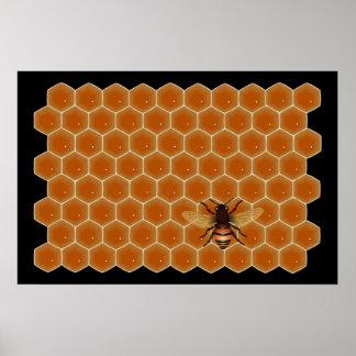 Abejas de la miel póster