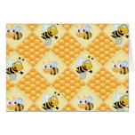 Abejas de la miel y la colmena felicitación